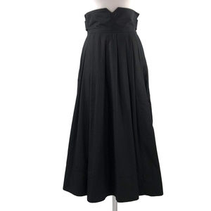 H&M 4 Black High Waist Full Skirt Pleated Pockets